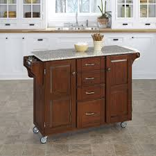 Portable Kitchen Island With Granite Top August Grove Adelle A Cart Kitchen Island With Granite Top