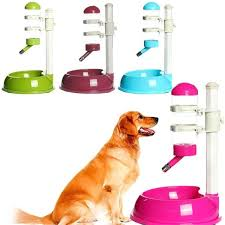Automatic <b>Dual</b> Usage <b>Pet</b> Feeder Waterer <b>Dog</b> Cat Stainless Steel ...