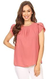 VIA Jay Women's <b>Thin</b> Basic Casual Simple <b>Short</b> Puff Sleeve ...