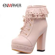 <b>ENMAYER Motorcycle</b> Fashion <b>Boots</b> New Round Toe Ankle <b>Boots</b> for