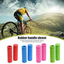 <b>Handlebar Grips</b>, Tape & Pads MTB Road Bike <b>1 Pair</b> Rubber ...