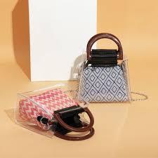 brenice women <b>summer transparent</b> chain handbag canvas chic ...