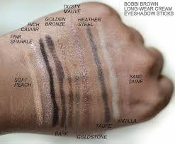 <b>Bobbi Brown Long-Wear Cream</b> Eyeshadow Sticks - Swatches ...