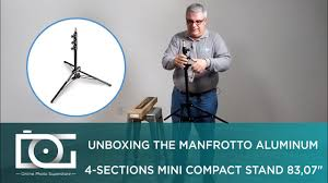 <b>MANFROTTO 1051bac</b> | Aluminum 4 Sections Mini Compact Stand ...