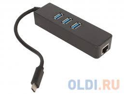 Концентратор <b>ORIENT</b> JK-341, Type-C <b>USB</b> 3.0 HUB 3 Ports + ...