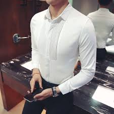 2019 <b>Loldeal</b> Mens Slim Fit White Wine <b>Red Tuxedo</b> Shirt French ...