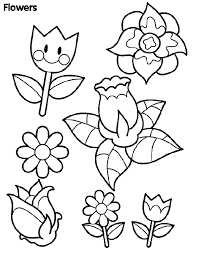 Small Picture Coloring Pages Of Little Flowers Coloring Pages