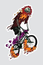 <b>Наклейка SKILLS</b> Bmx Rider (Разноцветный) | fondim27.ru