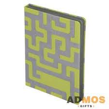 <b>Ежедневник Labyrinth</b>, <b>недатированный</b>, <b>зеленый</b> оптом под ...