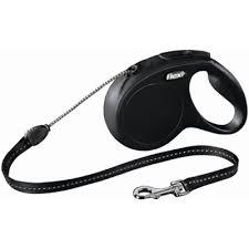 <b>Рулетка FLEXI New CLASSIC</b> трос S, 8 м, 12кг, черный — купить в ...