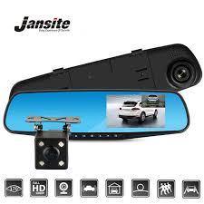<b>Jansite</b> 10 inch Stream Mirror <b>Car DVR Dual</b> Lens Video Recorders ...