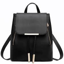 <b>Fashion PU Leather Backpack</b> School Bag Student Backpack ...