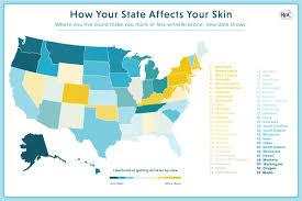 sunshine smog and stress roc reg skincare reveals the most wrinkle sunshine smog and stress rocreg skincare reveals the most wrinkle prone states in america