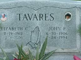 john pacheco tavares a grave memorial john pacheco tavares