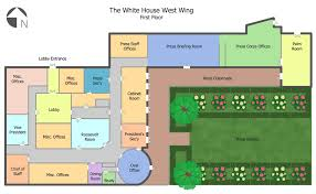 ConceptDraw Samples   Building plans   Floor plansSample   White House West Wing   st Floor