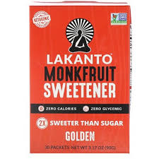 <b>Monkfruit Sweetener</b>, <b>Golden</b>, <b>30</b> Packets | www.gt-a.ru