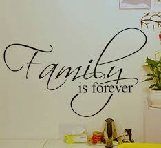 Family Is Forever Home Decoration <b>Creative Quote Wall</b> Murals ...