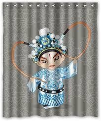 Miao Decor Gray background Cartoon Peking opera ... - Amazon.com