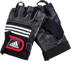 <b>Тяжелоатлетические перчатки Adidas Leather</b> Lifting Glove S/M ...