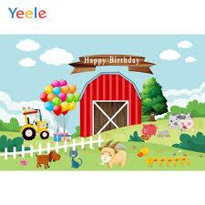 <b>Yeele</b> Balloon <b>Farm</b> Animal Lattice Grass Cloud <b>Birthday</b> ...