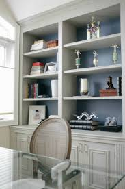 side view diy built in office cabinet classy glam living built in office