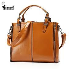 <b>FUNMARDI</b> Luxury <b>Patchwork</b> Waxy Leather Classic Handbag ...