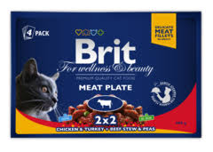 "<b>Паучи</b> для кошек, <b>Brit Premium</b> Cat, ""Мясная тарелка"" купить с ..."