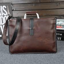 <b>2019</b> Designer <b>Men's Briefcase Vintage</b> Shoulder Bags Crazy Horse ...
