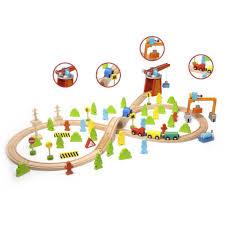 <b>Деревянный конструктор Classic World</b> железная дорога