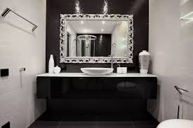 black and white bathroom wall decor theme accessoriesexquisite black white tile bathroom