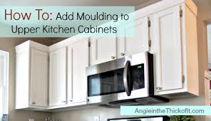 kitchen cabinet door trim: diy confidence builder add moulding to your kitchen cabinets