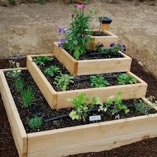 raised vegetable garden design ideas tiered love this photo via raised bed vegetable bedroommagnificent lush landscaping ideas