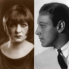 Rudolph Valentino en Jean Acker. Actrice Jean was verwikkeld in een lesbische romance totdat Rudolph stapelverliefd op haar werd. - Rudolph-Valentino-Jean-Acker