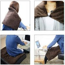 H-Hour USB <b>Heated Shawl</b>, <b>Warm</b> Electric Throws Flannel <b>Blanket</b> ...