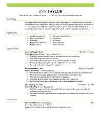 best accounts payable specialist resume example   livecareeredit