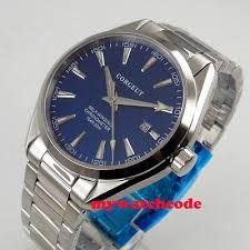 Luxury <b>39mm corgeut</b> blue <b>dial</b> date luminous MIYOTA 8215 ...
