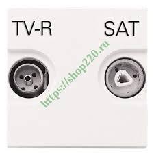 Купить <b>Розетка TV</b>-<b>R</b>-<b>SAT</b> простая <b>ABB Zenit</b>, альпийский белый ...