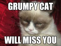 GRUMPY CAT WILL MISS YOU - Are You Kidding Grumpy Cat - quickmeme via Relatably.com