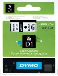 <b>S0720680</b> - 9mm Black on White <b>Dymo D1</b> Tape from Labelzone