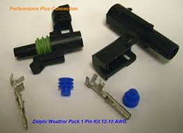 weatherpack performance plus connection supplier of weatherpack Delphi Wire Connector Seals wpk 1 12 gm delphi oem weather pack 1 pin connector kit 12 Delphi 3-Pin Connector