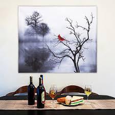 Achat de GearBest Modern Red Bird Tree Canvas Oil Printed ...