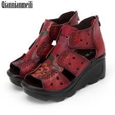 Platform <b>Summer</b> New Soft Bottom Flat Genuine Leather <b>Women</b> ...