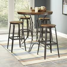 Five Piece Dining Room Sets Largo Abbey Five Piece Counter Height Dining Table And Stool Set