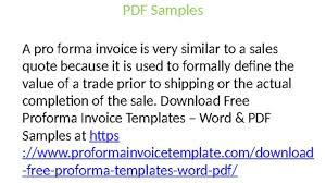 proforma invoice templates proforma invoice templates