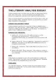 english teaching worksheets writing essays english worksheets the literary analysis essay