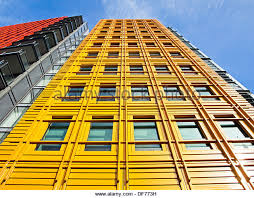 facade of central saint giles designed by italian architect renzo piano giles high street brightly colored offices central st
