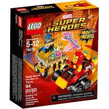 LEGO <b>Super Heroes</b> Mighty Micros: <b>Iron</b> Man vs <b>Thanos</b> 76072 ...