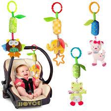JJOVCE <b>Baby</b> Plush <b>Rattle</b> Ring Bell <b>Crib</b> Bed Stroller Hanging ...