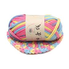 <b>100g</b>/<b>ball Width 2.8cm Thick</b> Colorful Cloth Strip Yarn Hand Knitting ...