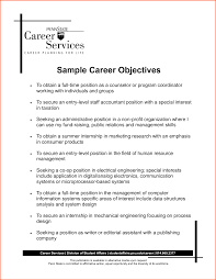 objective resume career objective examples image of resume career objective examples full size